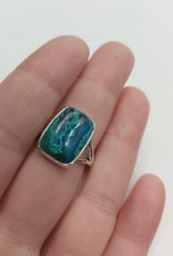 Azurite & Malachite Ring - Size 9 Sterling Silver