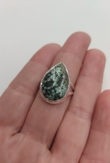 African Turquoise Ring - Size 9 Sterling Silver