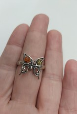 Baltic Amber Ring - Size 10 Sterling Silver