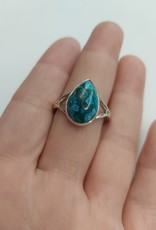 Azurite & Malachite Ring - Size 10 Sterling Silver