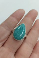 Amazonite Ring - Size 10 Sterling Silver
