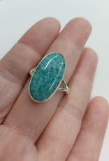 Amazonite Ring B - Size 10 Sterling Silver