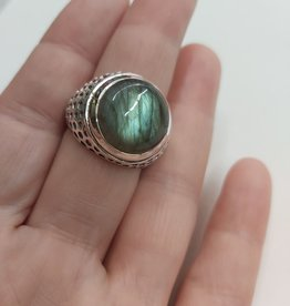 Labradorite Men's Ring - Size 10 Sterling Silver