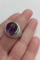 Amethyst Men's Ring - Size 11 Sterling Silver