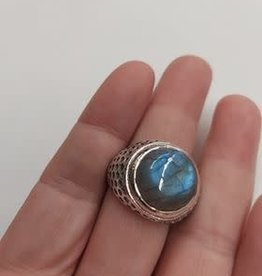 Labradorite Men's Ring - Size 12 Sterling Silver