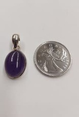 Amethyst C Pendant Sterling Silver
