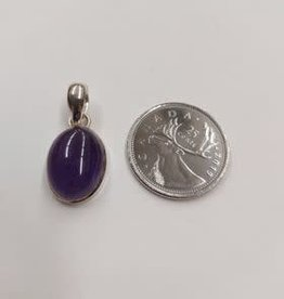 Amethyst C Pendant Sterling Silver