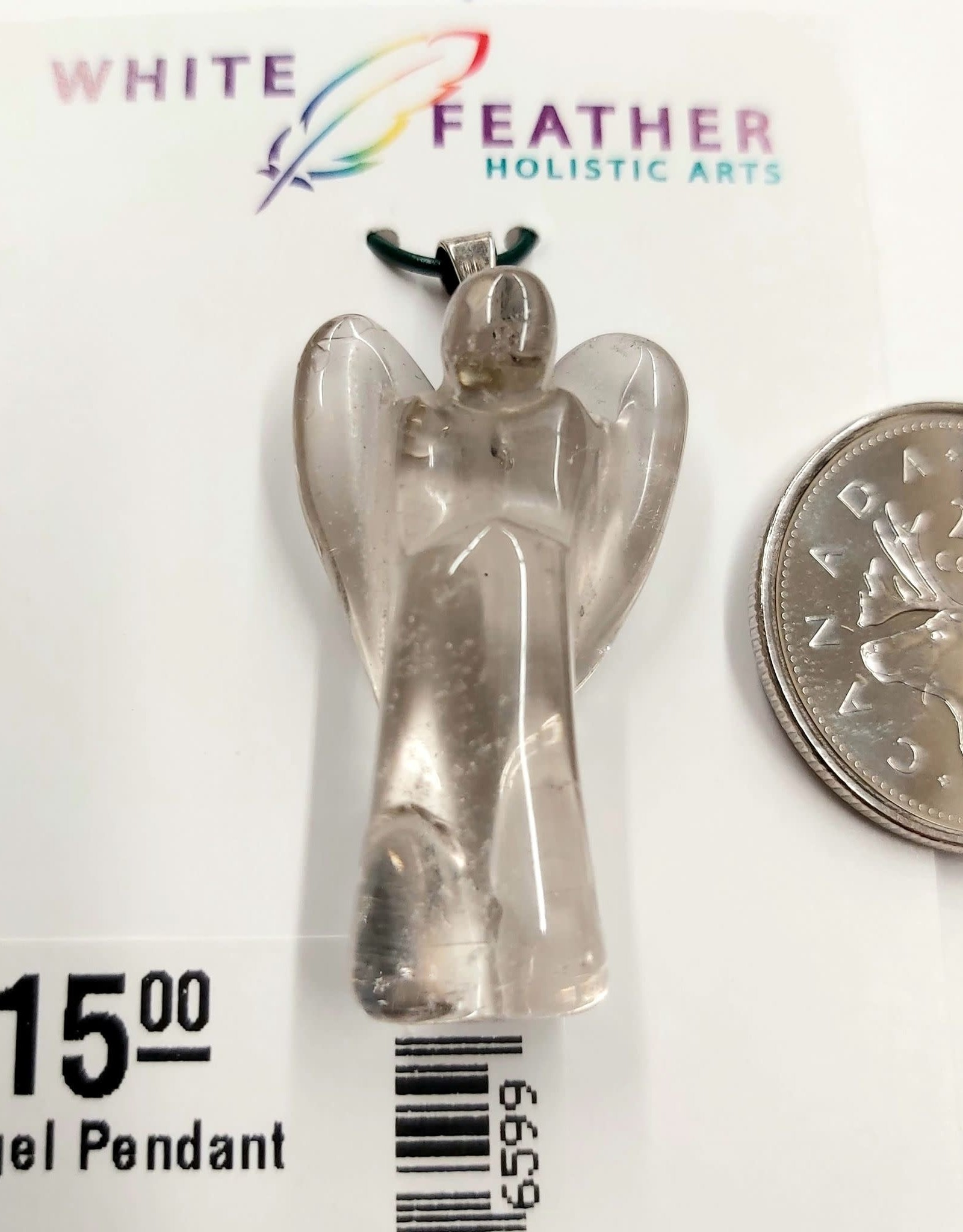 Quartz Angel Pendant Sterling Silver