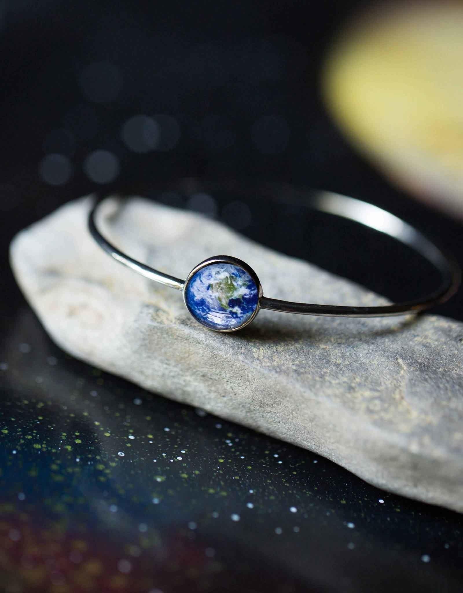 Bangle Silver Galaxy - Earth