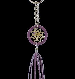 Dreamcatcher Keychain - Purple