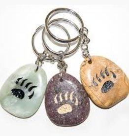 Stone Keychains - Bear Paw