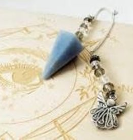 Angelite with Angel  -  Pendulum