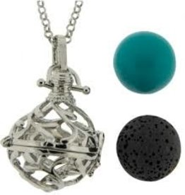 Aromatherapy Pendant-Necklace Ball-Leaves