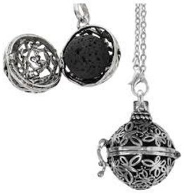 Aromatherapy Pendant-Necklace Ball-Butterflies