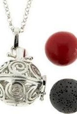 Aromatherapy Pendant-Necklace Ball-Spirals
