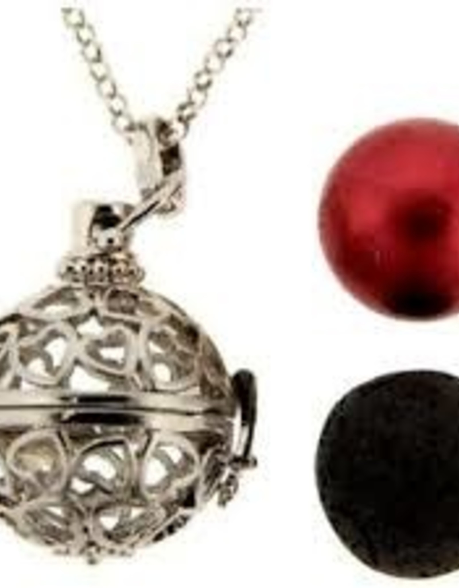 Aromatherapy Pendant-Necklace Ball-Multi Hearts
