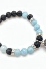 Aromatherapy Bracelet Aquamarine & Lava