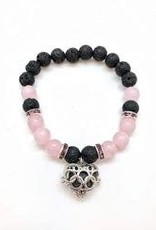 Aromatherapy Bracelet Rose Quartz & Lava