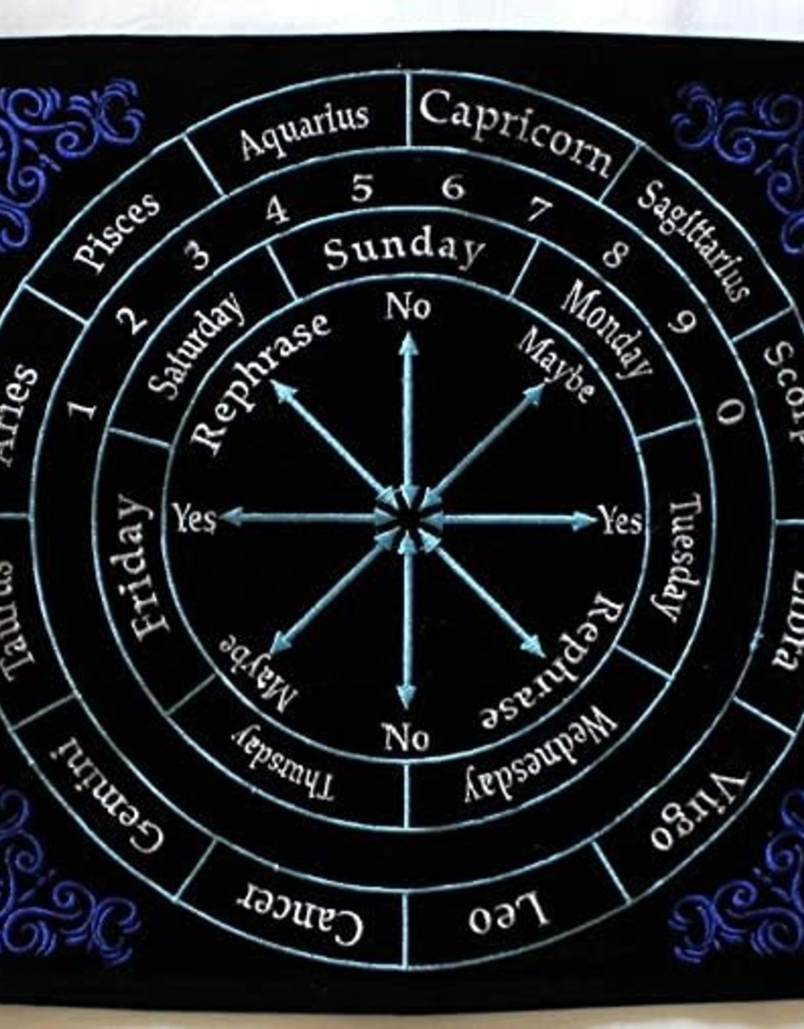 Pendulum Mat - Black Velvet Astrology