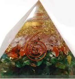 Mixed Orgonite Pyramid with Copper
