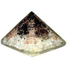 Quartz & Black Tourmaline Orgonite Pyramid