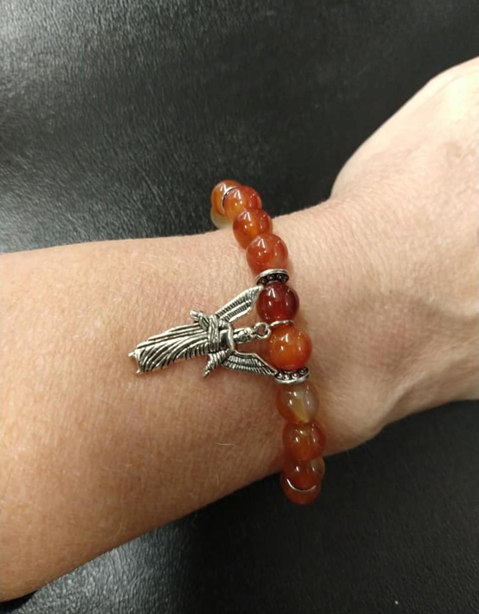 Archangel Uriel Carnelian Bracelet