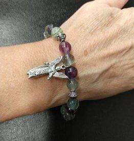 Archangel Gabriel Fluorite Bracelet
