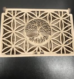 Sacred Geometry Wooden Box - Tree of Life