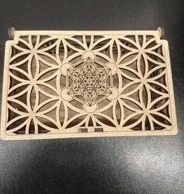 Sacred Geometry Wooden Box - Metatron's Cube
