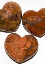 Brecciated Jasper Puffy Heart