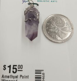 Amethyst Point Wrapped Pendants