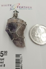 Amethyst Wrapped Pendant B