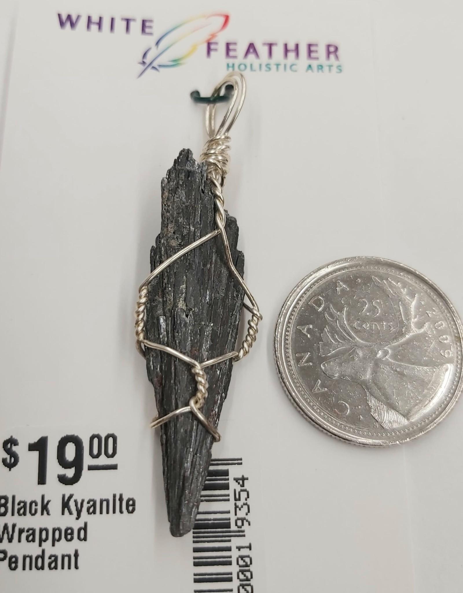 Black Kyanite Wrapped Pendant