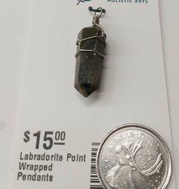 Labradorite Point Wrapped Pendants