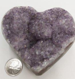 Amethyst Cluster Heart $95