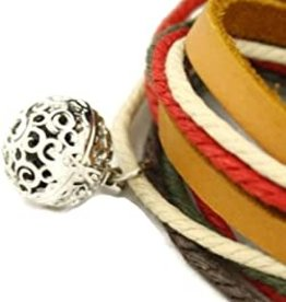 ***CLEARANCE*** Meadow Leather Wrap Aromatherapy Bracelet/Necklace