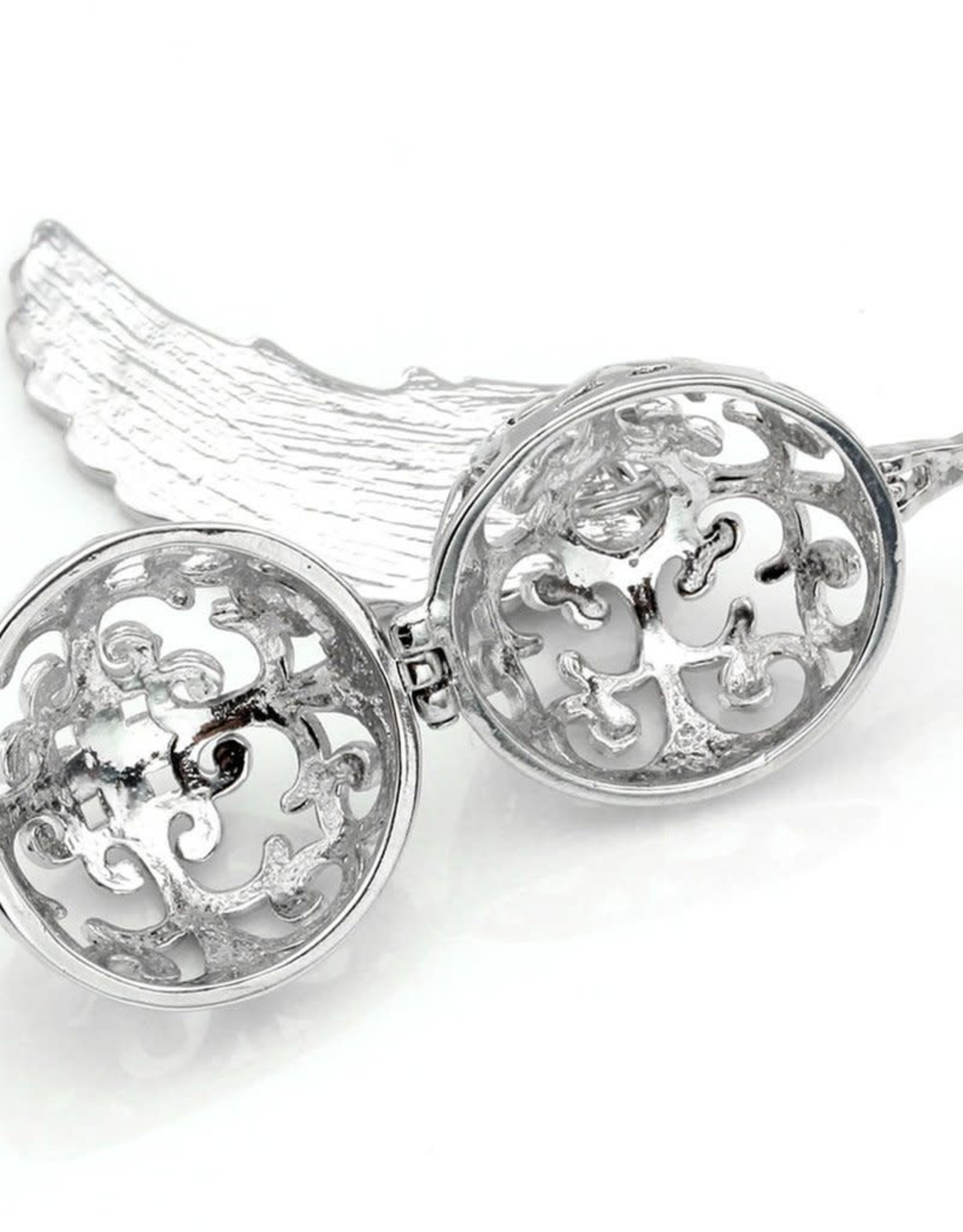 Aromatherapy Diffuser Necklace - Angel Wing with Cage