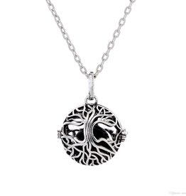 Aromatherapy Diffuser Necklace - Tree of Life Cage