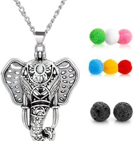 Aromatherapy Diffuser Necklace - Elephant Cage
