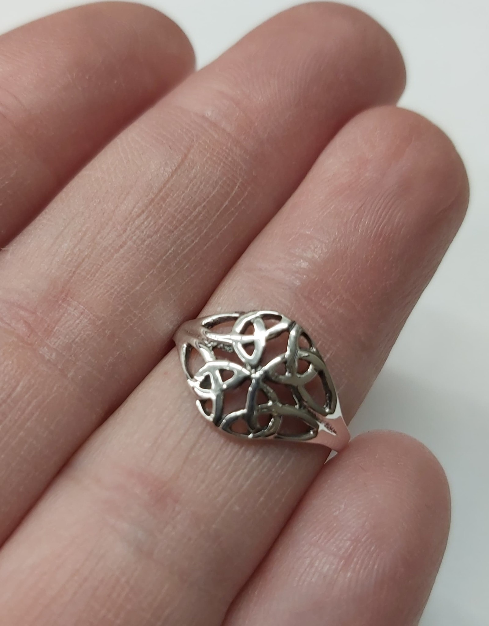 Celtic Double Knot Ring - Size 5 Sterling Silver