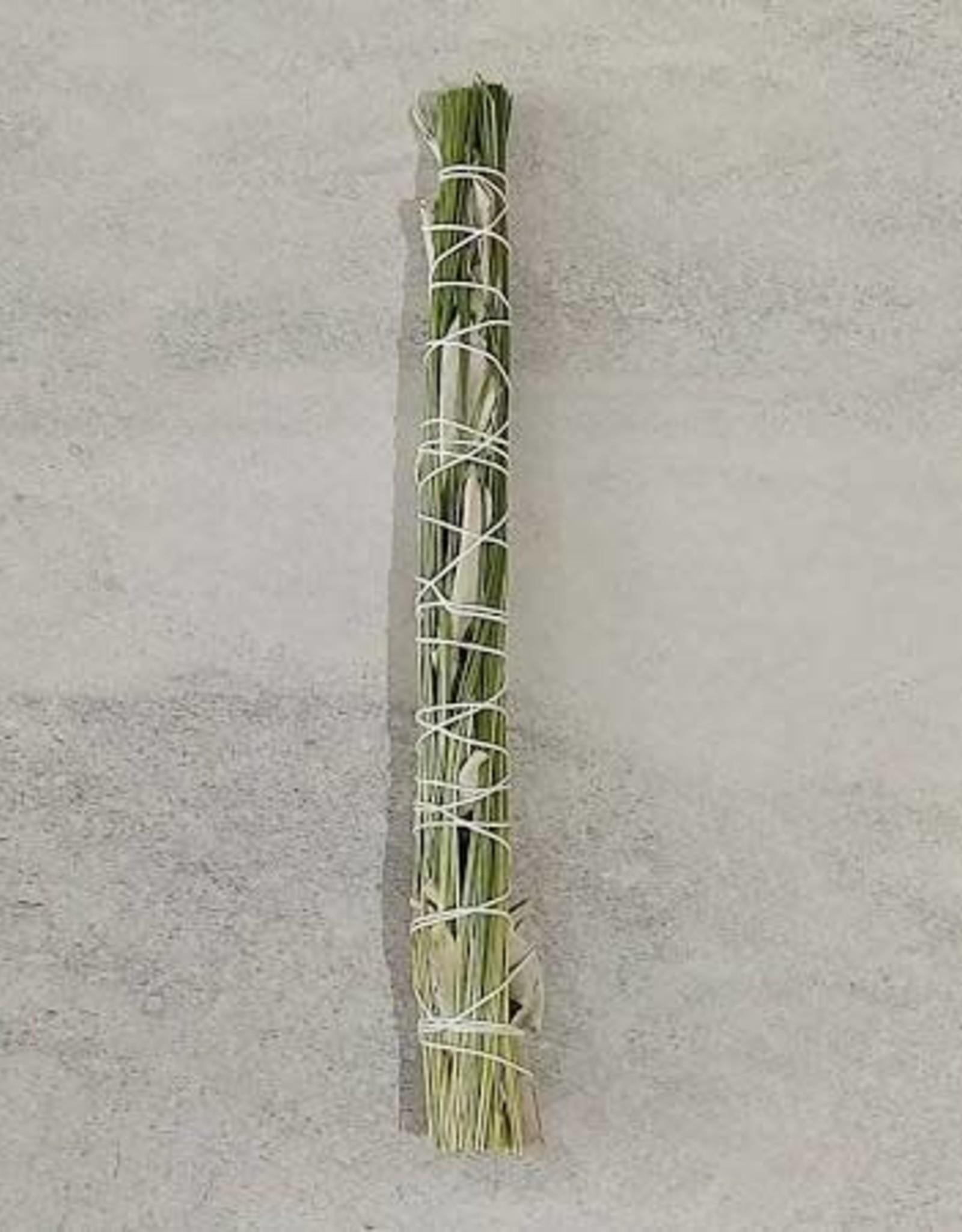 "8"" Smudge Stick - Sweetgrass & White Sage"