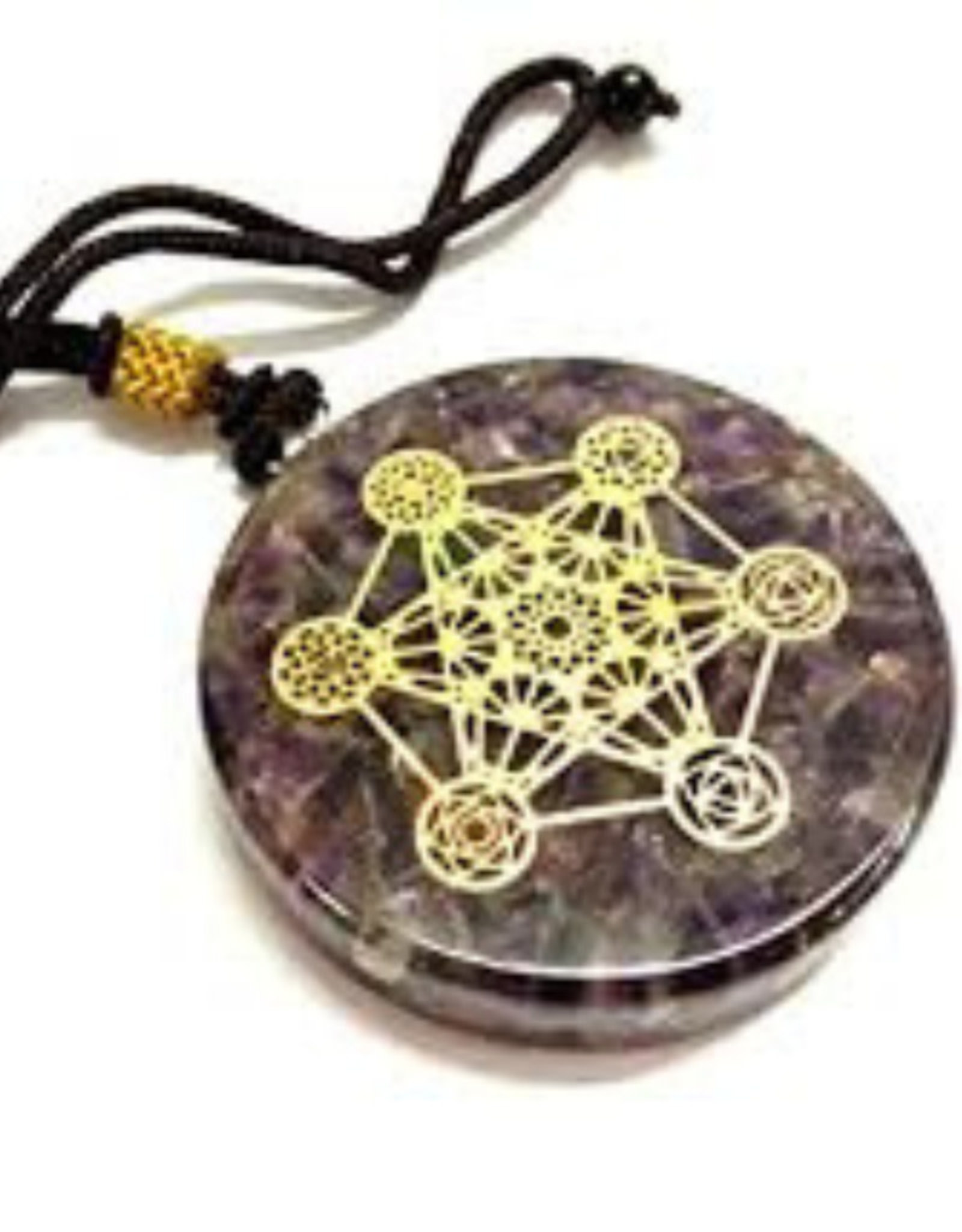 Amethyst  Metatron - Orgonite Necklace Pendant