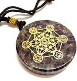 Amethyst  Metatron - Orgonite Necklace