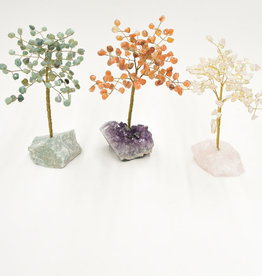 "Carnelian Gem Tree   8"""