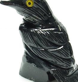 Black Onyx Raven 1.25″ - Stone Animal