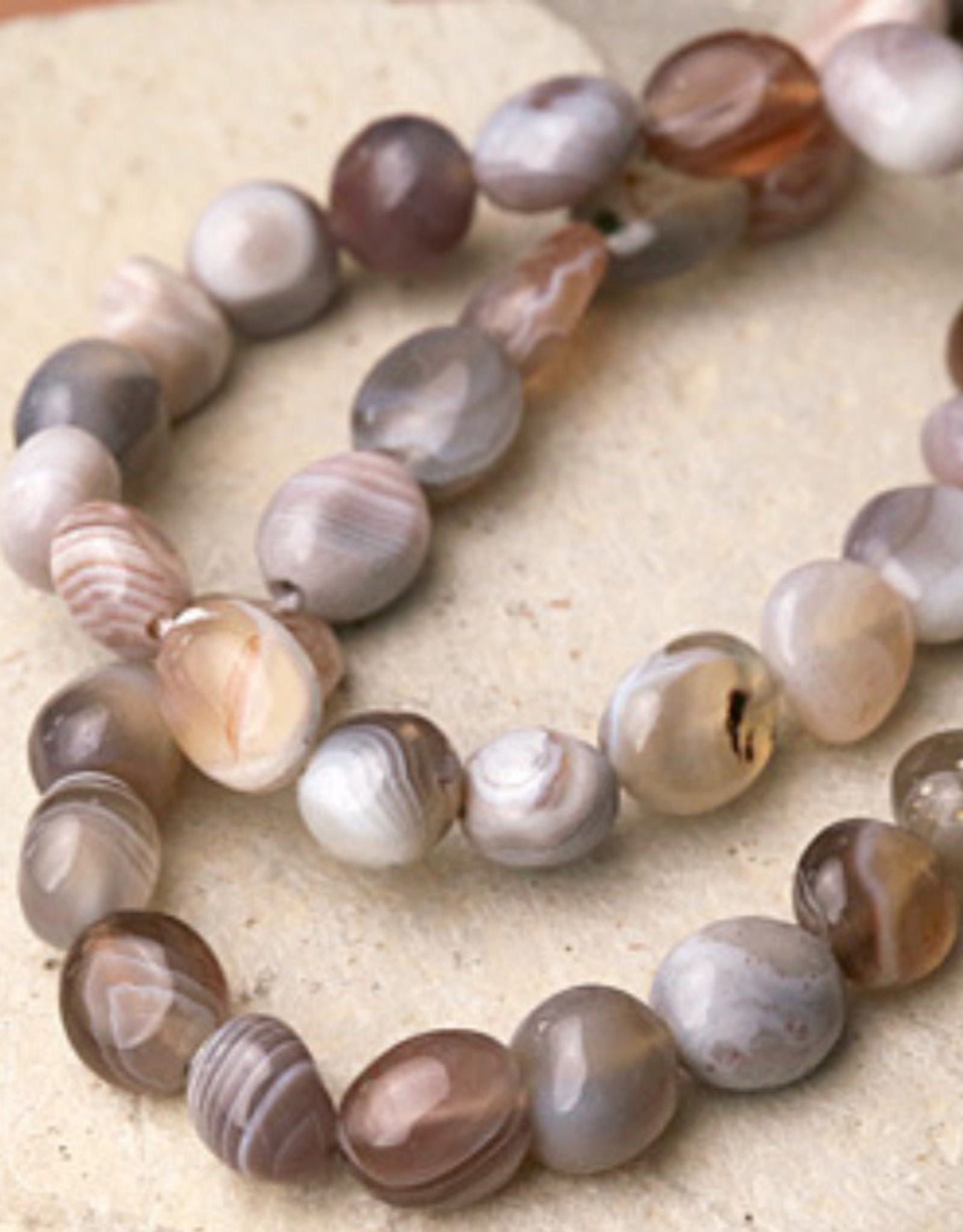Botswana Agate Tumbled Bracelet