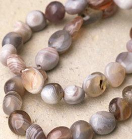 Agate Botswana Tumbled Bead Bracelet