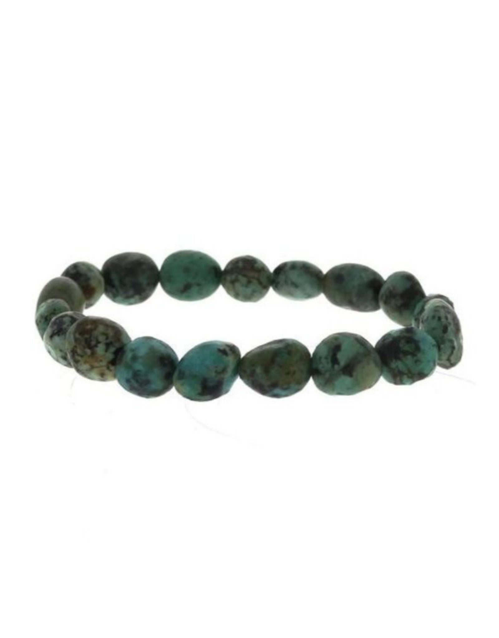Africian Turquoise Tumbled Bead Bracelet