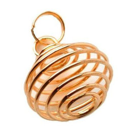 Copper Plated Pendant Cage .5""