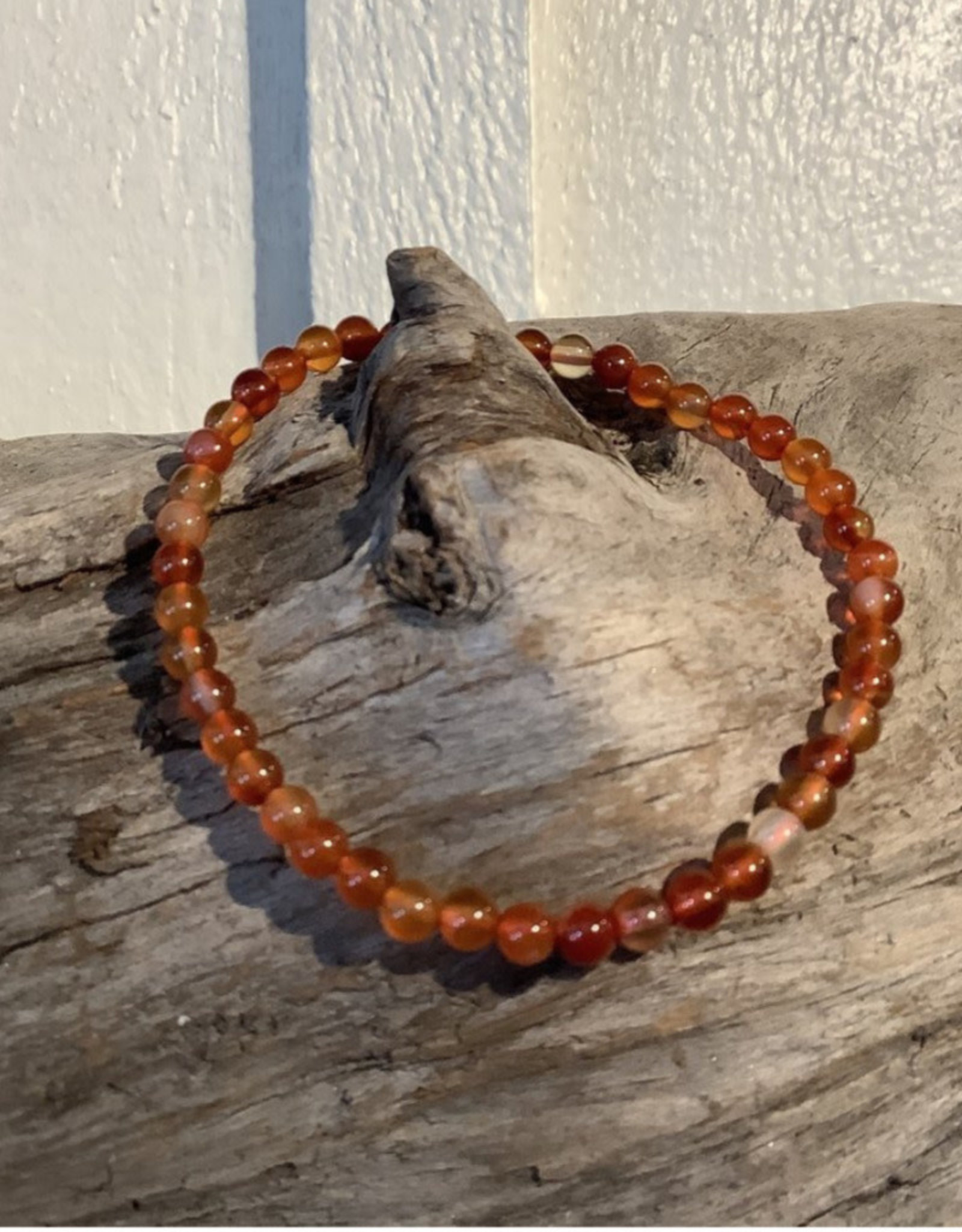 Brown & Red Agate 4MM Bracelet